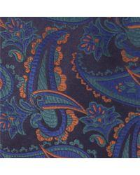 Duchamp - Blue Paisley Mix Silk Tie for Men - Lyst