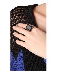 Elizabeth and James | Metallic Bird Claw Ring with Onyx | Lyst