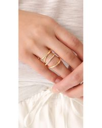 Elizabeth and James   Metallic Mondrian Pave Ring   Lyst