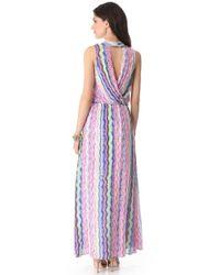Ella Moss - Purple Zuma Maxi Dress - Lyst