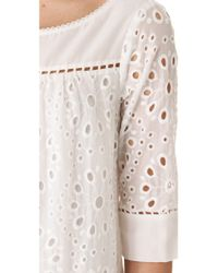 Ella Moss - White Heidi Eyelet Dress - Lyst