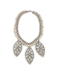 Fallon | Metallic Forever Regalia Bib Necklace | Lyst