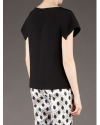 Giambattista Valli | Black Flap Sleeve Blouse | Lyst