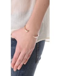 Giles & Brother | Pink Skinny Railroad Spike Cuff - Rose Gold | Lyst