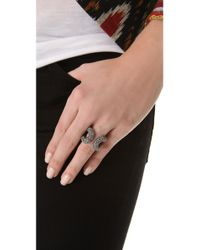 Giles & Brother - Metallic Encrusted Cortina Ring - Lyst