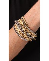 Giles & Brother - Metallic Large Multi Chain Bracelet - Lyst