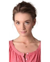 Ginette NY - Metallic Love Necklace - Lyst
