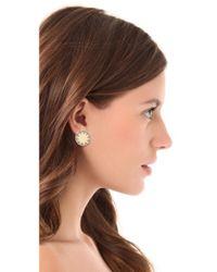 House of Harlow 1960 - Metallic Earth Metal Sunburst Stud Earrings - Lyst