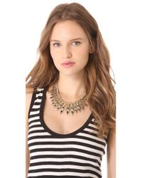 House of Harlow 1960 - Metallic Gypsy Feather Necklace - Lyst