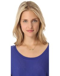 House of Harlow 1960 - Metallic Mini Key Necklace - Gold - Lyst