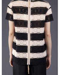 Il by Saori Komatsu - Black Strip Zip Sweater - Lyst