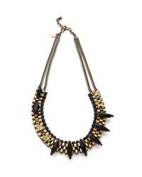 Iosselliani - Black Agate Stone Necklace - Lyst