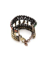 Iosselliani - Multicolor Multi Stone Watch Link Bracelet - Lyst