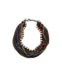 Iosselliani | Multicolor Twisted Multiwires Necklace | Lyst