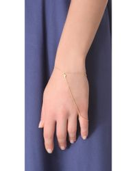 Jacquie Aiche - Metallic Diamond Kite Hand Chain - Lyst