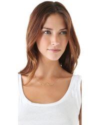 Jennifer Zeuner - Metallic Skinny Diamond Snake Necklace - Lyst
