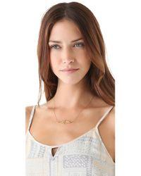 Jennifer Zeuner - Metallic Diamond Sapphire Eye Necklace - Lyst