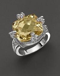 Judith Ripka - Yellow Olivia Ring with Canary Crystal Stone - Lyst
