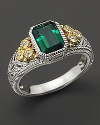 Judith Ripka - Metallic Small Stone Estate Ring - Lyst