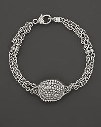 Judith Ripka | Metallic Sterling Silver Mercury Center Bracelet On Double Chain | Lyst