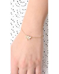 Juicy Couture - Metallic Pave Dragonfly Bracelet - Lyst