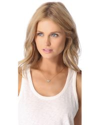 Juicy Couture - Metallic Pave Dragonfly Necklace - Lyst