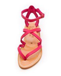 K. Jacques | Pink Epicure Crisscross Sandals | Lyst