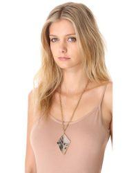 Kelly Wearstler - Metallic Dual Point Pendant Necklace - Lyst