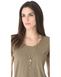 Kelly Wearstler | Metallic Small Horn Pendant Necklace in Natural Stone | Lyst