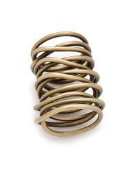 Kelly Wearstler - Metallic Twisted Brass Ring - Lyst