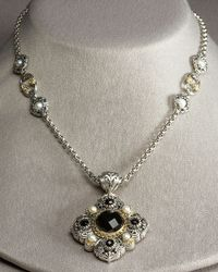 Konstantino - Metallic Pearl Station Necklace - Lyst