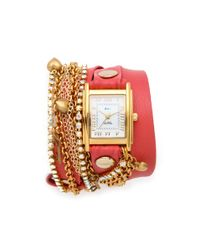La Mer Collections | Pink Tokyo Crystal Wrap Watch | Lyst