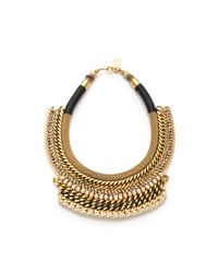 Lizzie Fortunato | Metallic Wheat Field Of Crows Necklace | Lyst