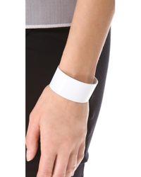 Luv Aj - White Plain Short Cuff Bracelet - Lyst