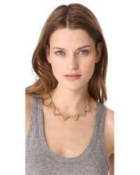 Madewell - Gray Chevron Necklace - Lyst