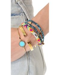 Marc By Marc Jacobs - Blue Braided Charm Double Wrap Bracelet - Lyst