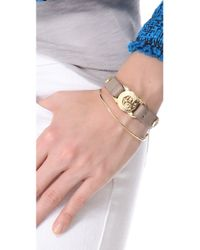 Marc By Marc Jacobs | Metallic Bolts Leather Bracelet | Lyst