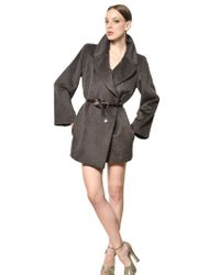 Marc Jacobs | Brown Baby Lama Wool Cloth Coat | Lyst