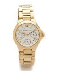 Michael Kors | Metallic Lexington Watch - Gold | Lyst