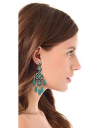 Miguel Ases - Blue Long Quartz Chandelier Earrings - Lyst