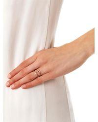 Noor Fares - Metallic Champagne Diamond Gold Rhombus Ring - Lyst