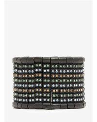 Philippe Audibert - Black Multi-colour 8-row Crystal Elasticated Bracelet - Lyst