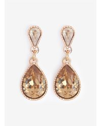 Philippe Audibert | Metallic Tear Drop Crystal Earrings | Lyst