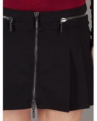 Plein Sud Jeanius - Black Pleated Mini Skirt - Lyst