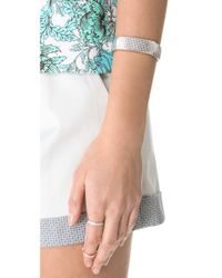 Rebecca Minkoff - Metallic Pave Watch Band Bracelet - Lyst