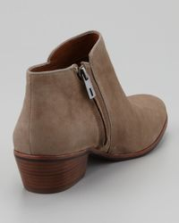 Sam Edelman | Brown Womens Petty Suede Ankle Boot Tan | Lyst