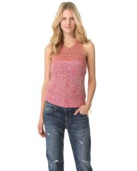 See By Chloé | Red Racer Back Knit Tank | Lyst