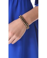 Serefina - Black Spike Leather Luxe Cuff - Lyst