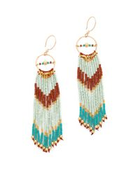 Shashi - Metallic Tribal Earrings - Lyst