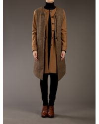 Societe Anonyme | Brown Double-layered Coat | Lyst